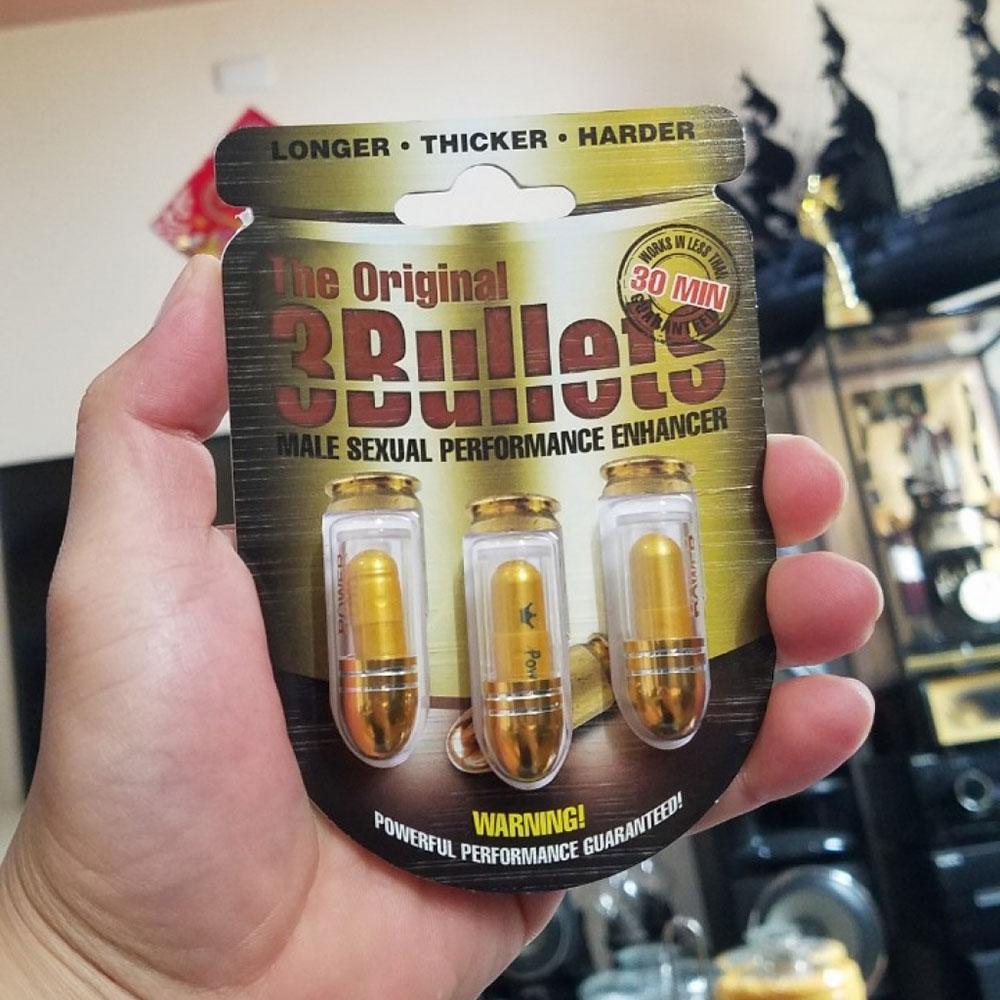 Thuốc cường dương The Original 3 Bullets sung và lâu hơn